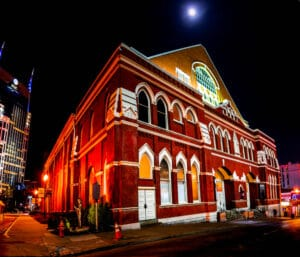 The stunning Grand Ole Opry building in downtown Nashville